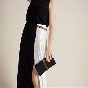 Victoria Beckham Black & White Skirt w/ Chain